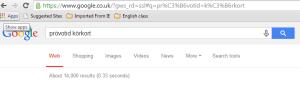 brita käis google'is